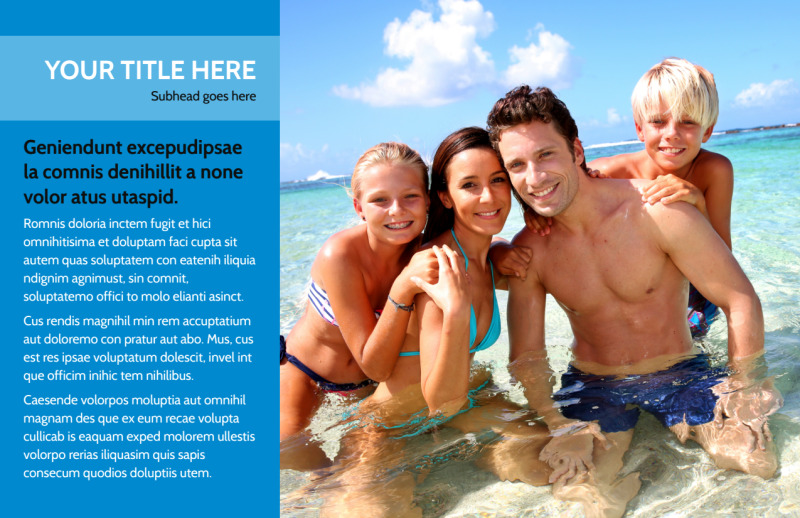 Family Beach Resort Postcard Template Preview 2