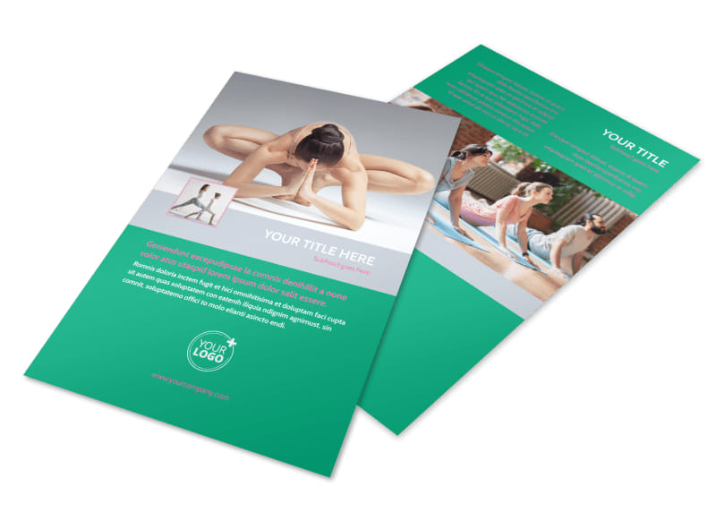 Pilates Class Flyer Template 3