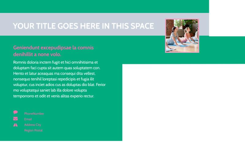 Pilates Class Postcard Template Preview 3