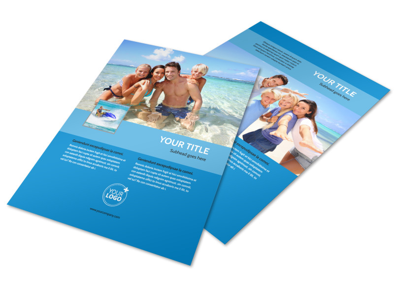 Family Beach Resort Flyer Template  Flyer Samples Templates