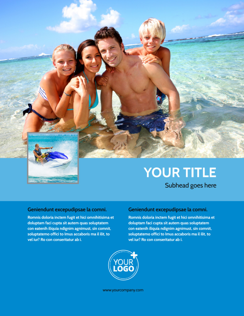 Family Beach Resort Flyer Template Preview 2