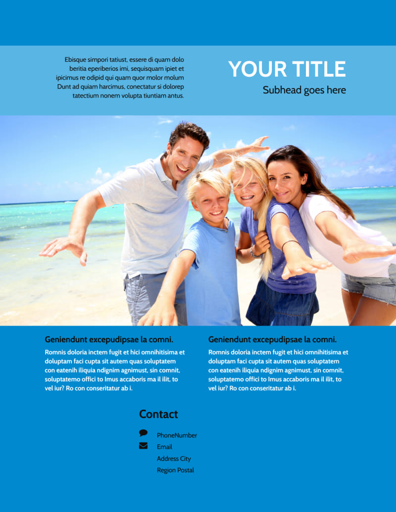 Family Beach Resort Flyer Template Preview 3