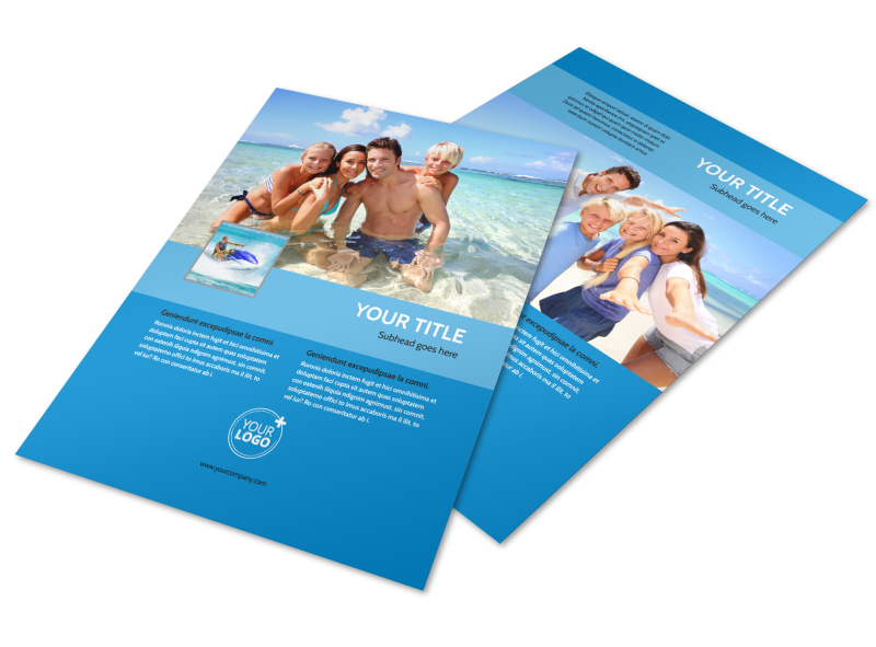 Family Beach Resort Flyer Template Preview 1