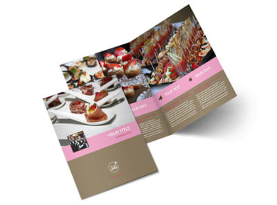 Event Catering Bi-Fold Brochure Template 2