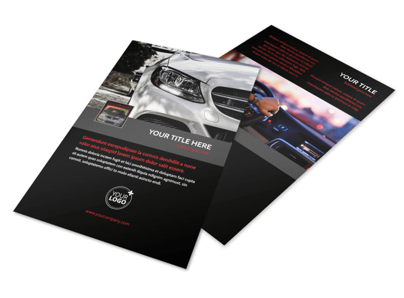Professional Car Washing Flyer Template 3
