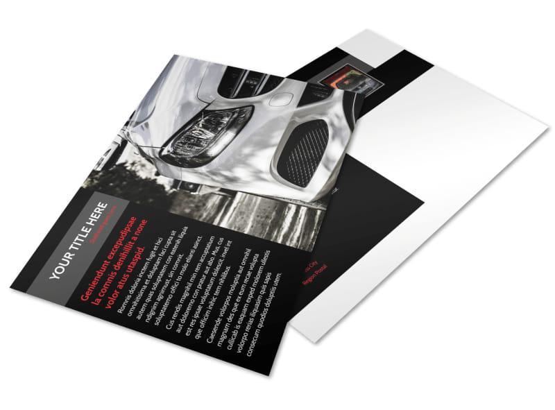 Professional Car Washing Postcard Template