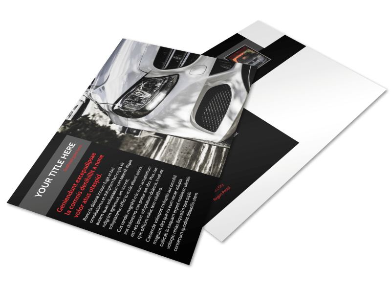 Professional Car Washing Postcard Template Preview 1