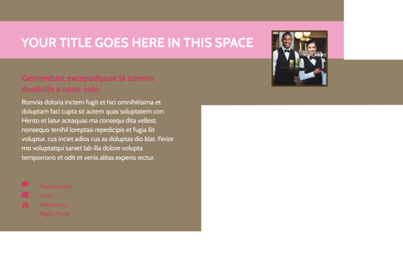 Event Catering Postcard Template Preview 3