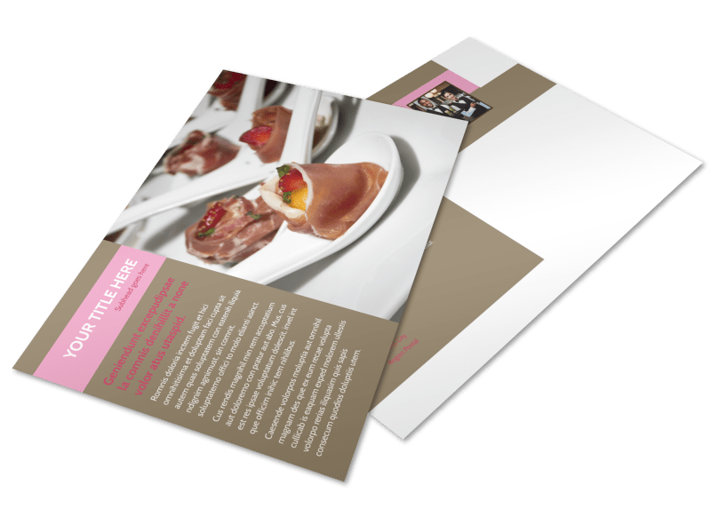 Event Catering Postcard Template Preview 1