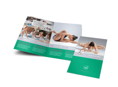 Pilates Class Bi-Fold Brochure Template