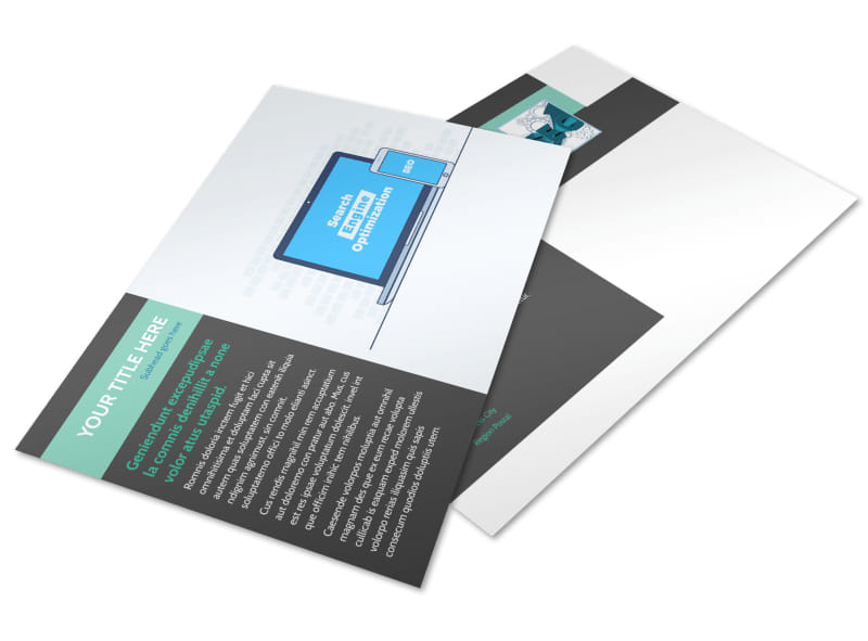 SEO Services Postcard Template