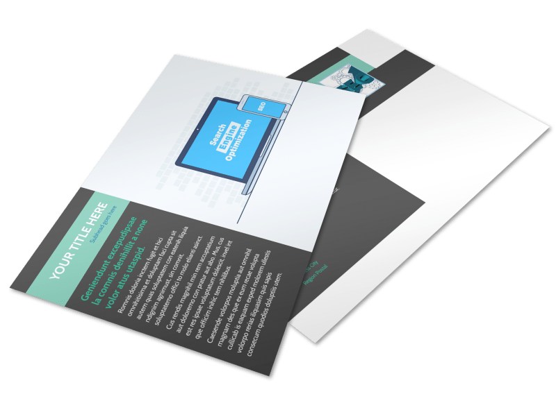 SEO Services Postcard Template Preview 1
