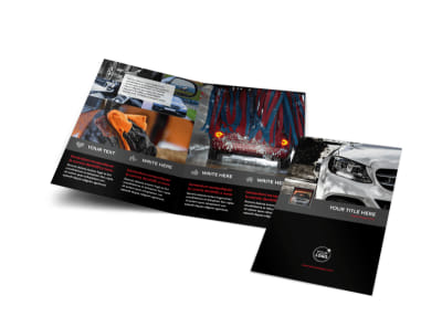 Professional Car Washing Bi-Fold Brochure Template preview