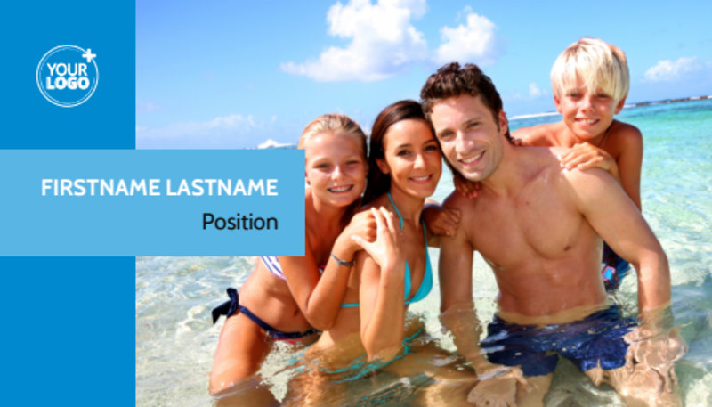 Family Beach Resort Business Card Template Preview 2