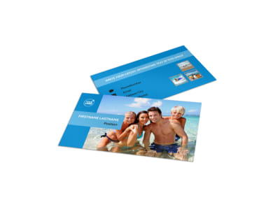 Family Beach Resort Business Card Template