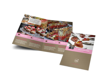 Event Catering Bi-Fold Brochure Template preview