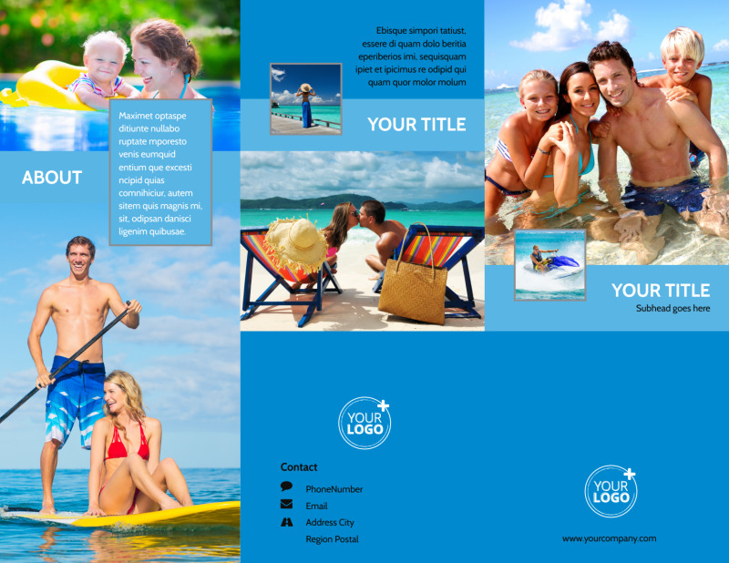 Family Beach Resort Brochure Template Preview 2