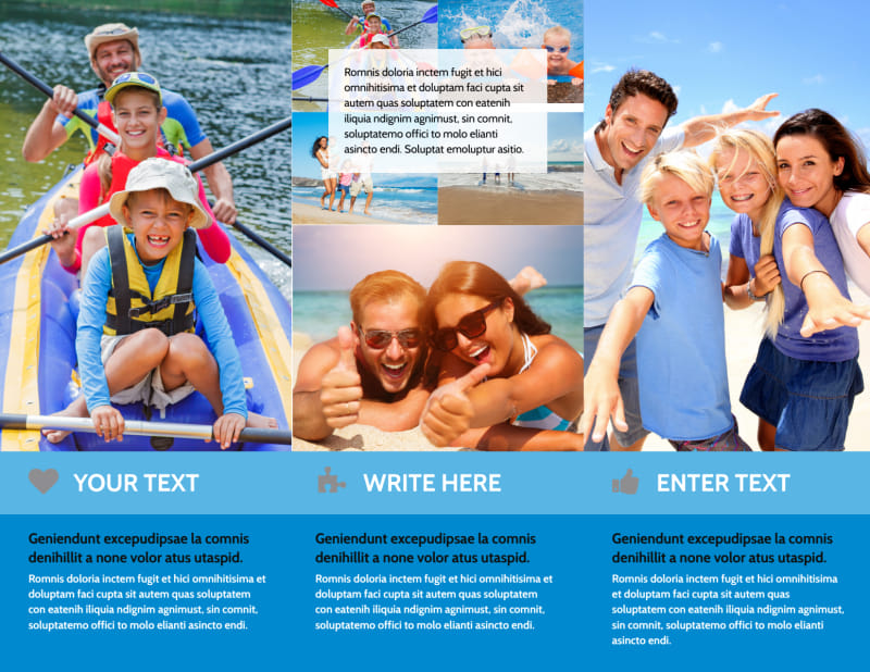 Family Beach Resort Brochure Template Preview 3
