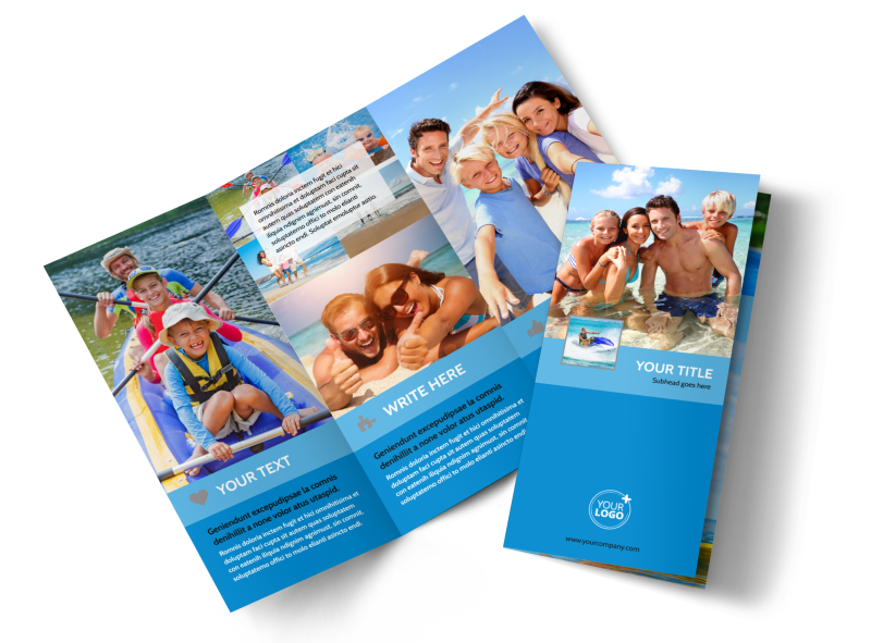 Family Beach Resort Brochure Template Preview 1