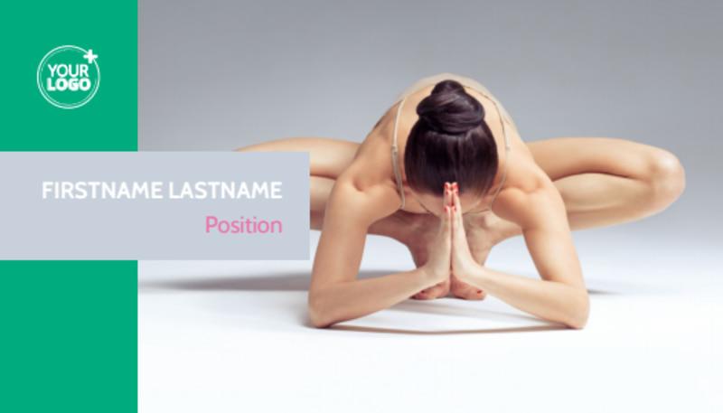 Pilates Class Business Card Template Preview 2