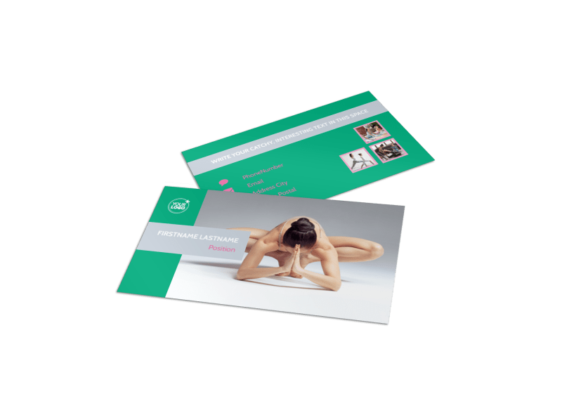 Pilates Class Business Card Template Preview 1