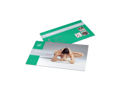 Pilates Class Business Card Template