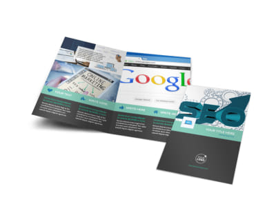 SEO Services Bi-Fold Brochure Template