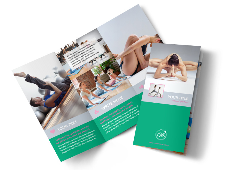 Pilates Class Tri-Fold Brochure Template