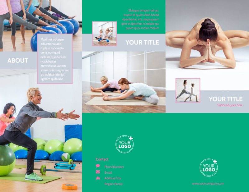 Pilates Class Brochure Template Preview 2