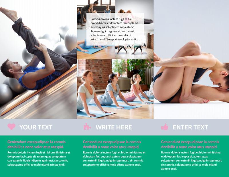 Pilates Class Brochure Template Preview 3