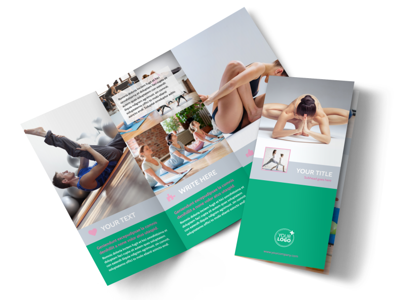 Pilates Class Brochure Template Preview 1