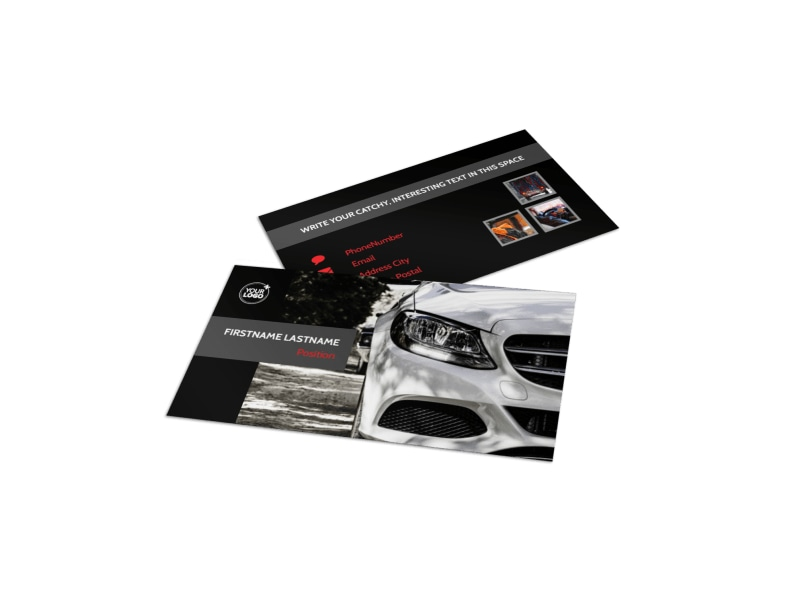 Professional Car Washing Business Card Template Preview 4