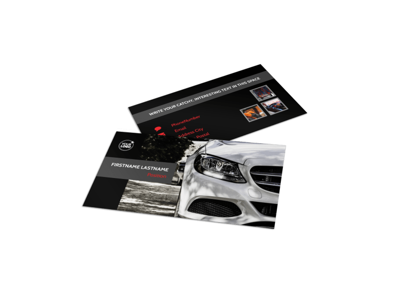 Professional Car Washing Business Card Template Preview 1