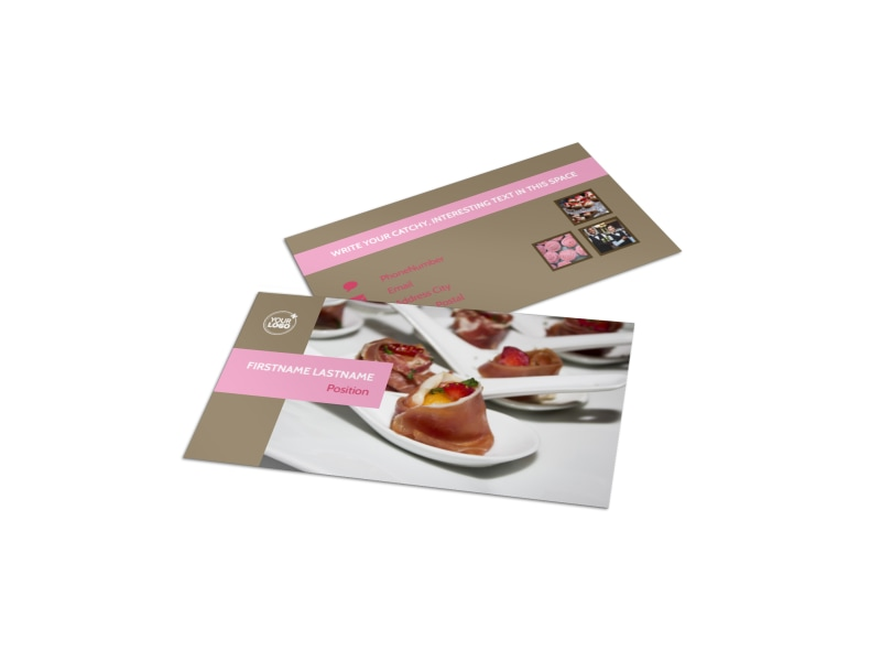 Event catering business card template mycreativeshop event catering business card template flashek Gallery