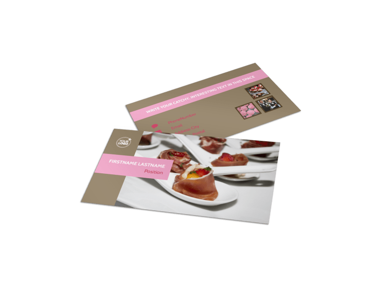 Event Catering Business Card Template Preview 1