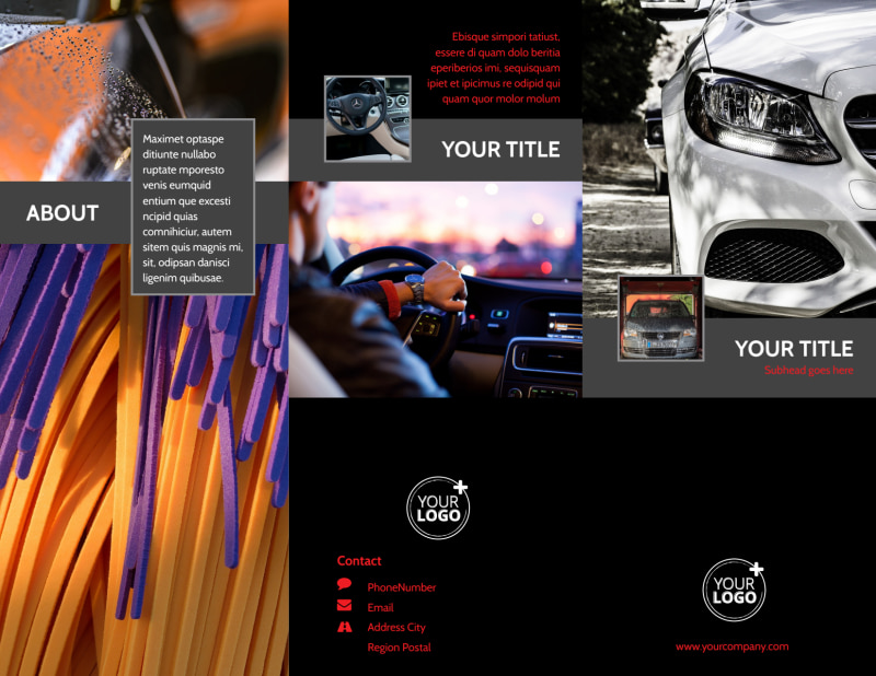 Professional Car Washing Brochure Template Preview 2