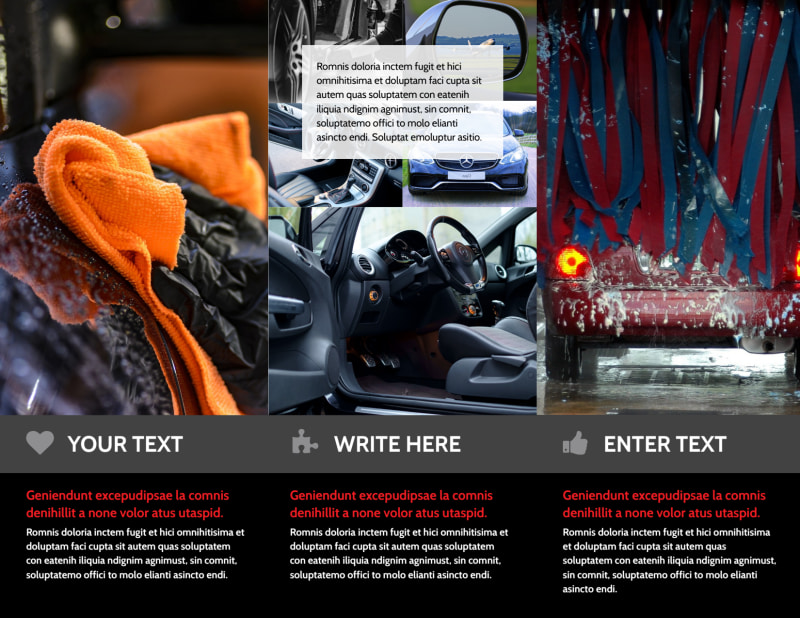 Professional Car Washing Brochure Template Preview 3