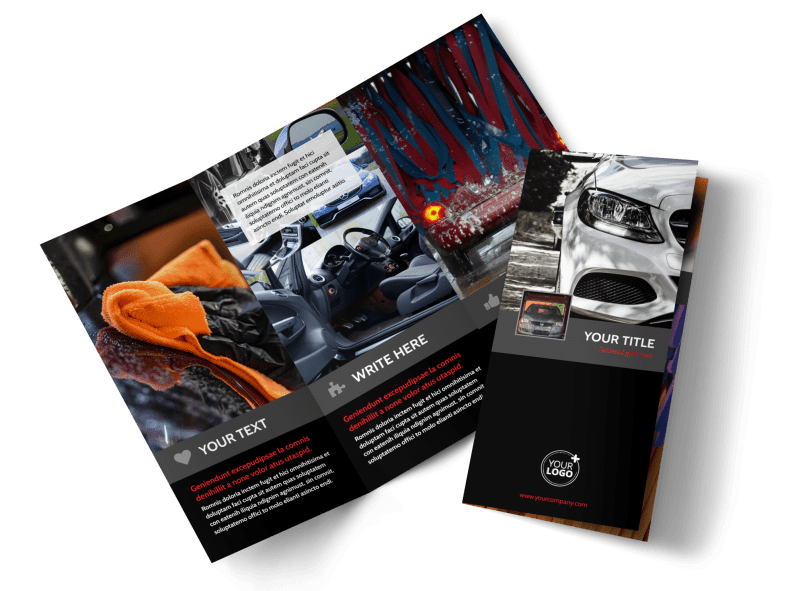 Professional Car Washing Brochure Template Preview 1