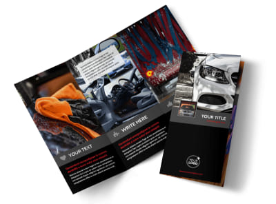 Professional Car Washing Tri-Fold Brochure Template