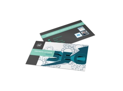 SEO Services Business Card Template preview