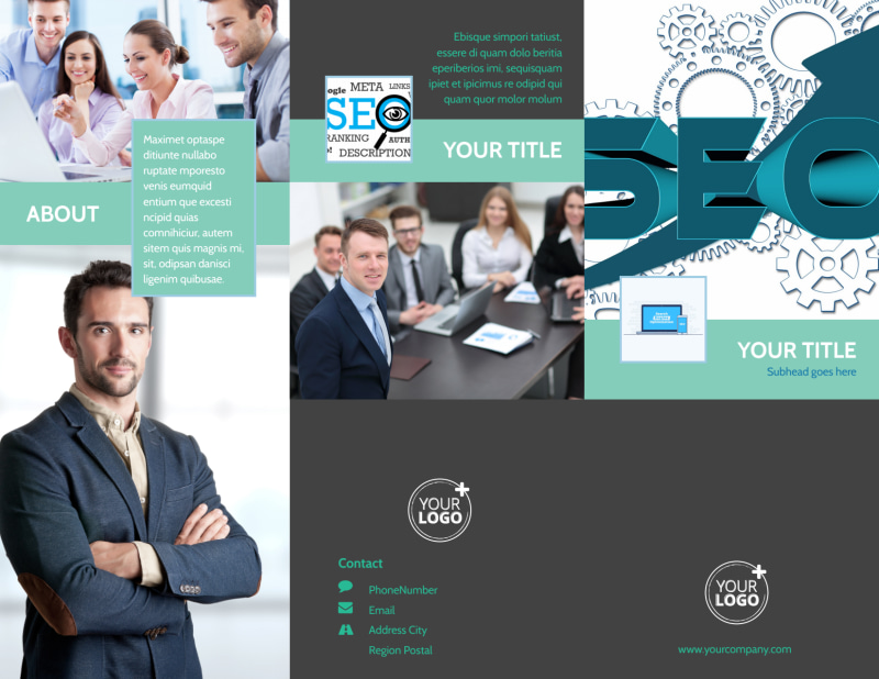 SEO Services Brochure Template Preview 2