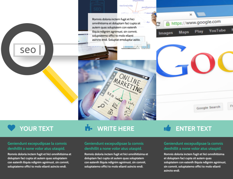 SEO Services Brochure Template Preview 3