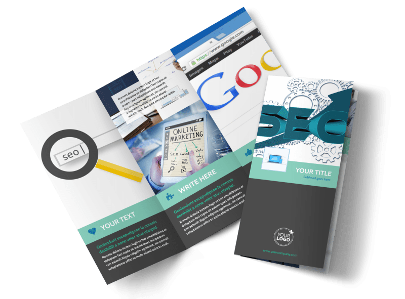SEO Services Brochure Template Preview 1