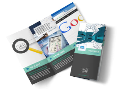 SEO Services Tri-Fold Brochure Template preview