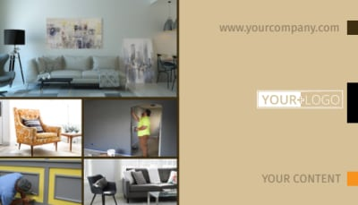 Painters & Decorators Business Card Template Preview 1