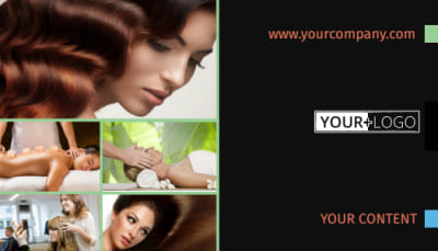 Hair Salon & Spa Business Card Template Preview 1