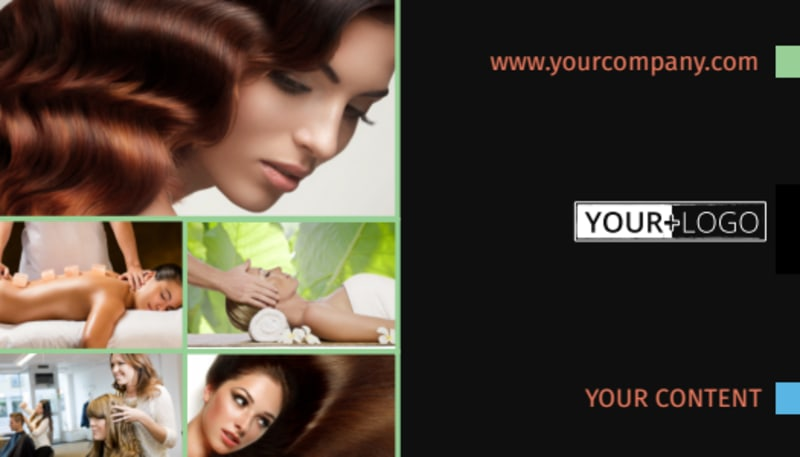 Hair Salon & Spa Business Card Template Preview 2
