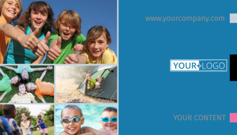 Summer Camp Business Card Template Preview 2