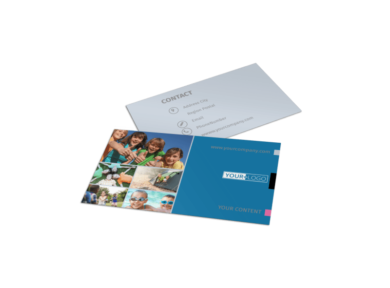 Summer Camp Business Card Template Preview 1