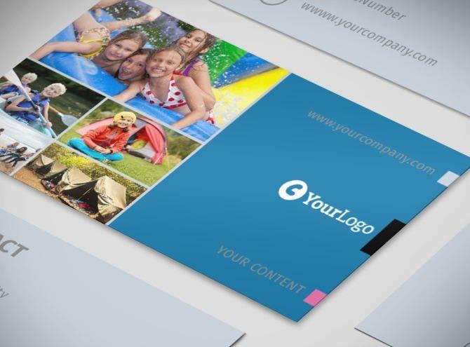 summer camp business card template. Black Bedroom Furniture Sets. Home Design Ideas
